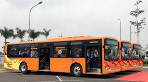 Xe bus cao cấp tại Sân Bay nội Bài