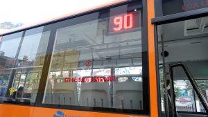 Xe bus 90 Kim Mã-Cầu Nhật Tân đi Nội Bài