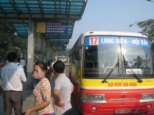 Xe bus 17 Long Biên đi Sân Bay Nội Bài