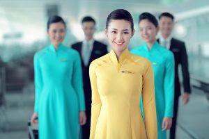 Tiếp viên của Hàng không Vietnam Airlines